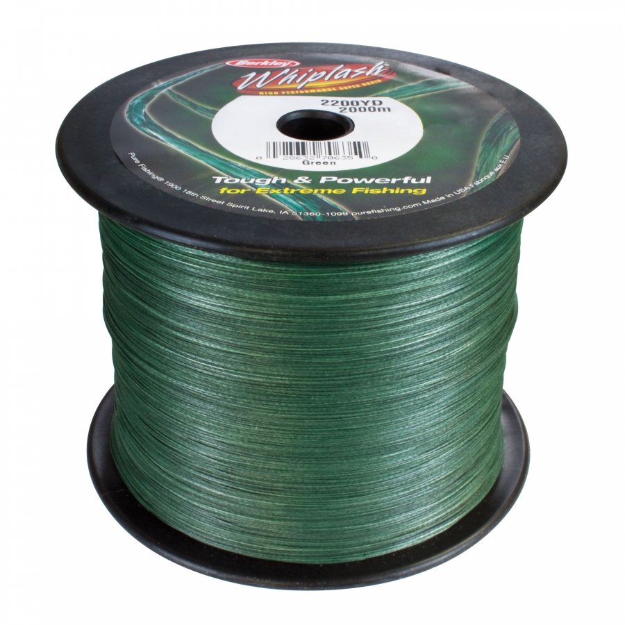 Berkley pletená šňůra Whiplash Green 0,28mm, 44,9kg 1m