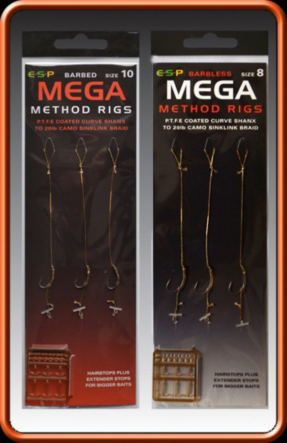 ESP návazce Mega Method Rigs vel. 8 Barbless