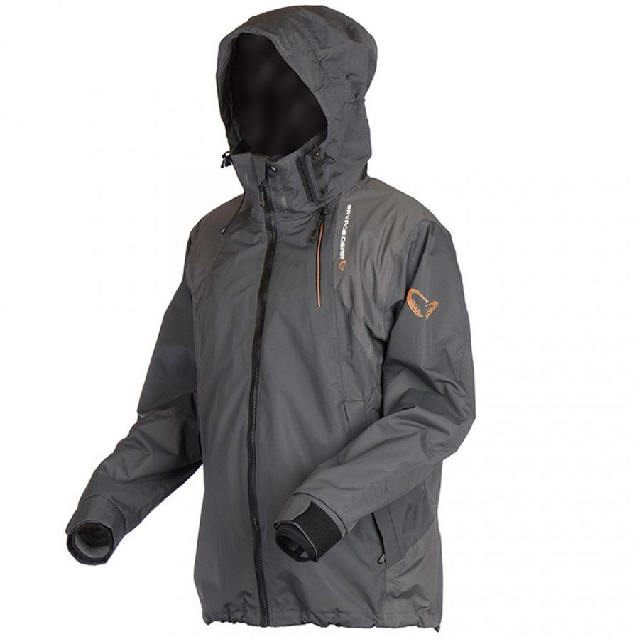 Savage Gear bunda Black Savage Jacket Grey vel. L