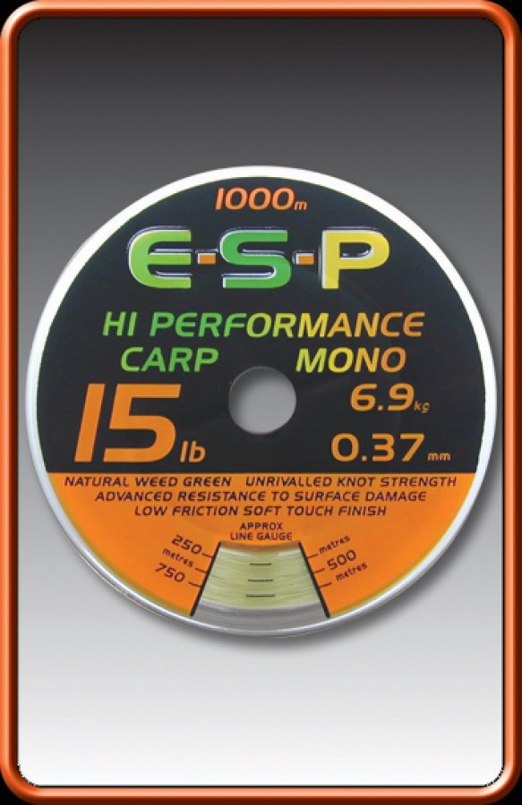 ESP vlasec Hi Performance Carp Mono 12lb 0,35mm 1000m