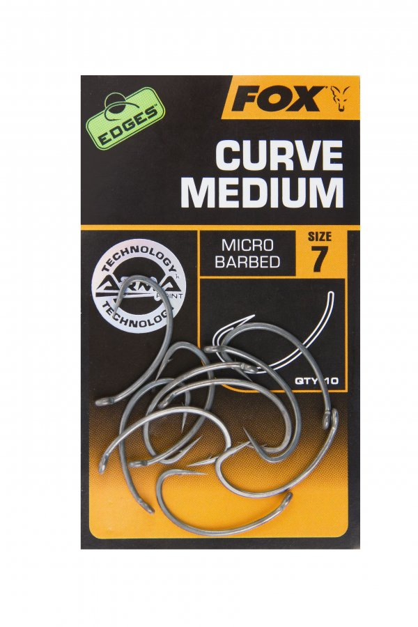 Fox háčky bez protihrotu Edges Curve Medium Barbless vel. 8