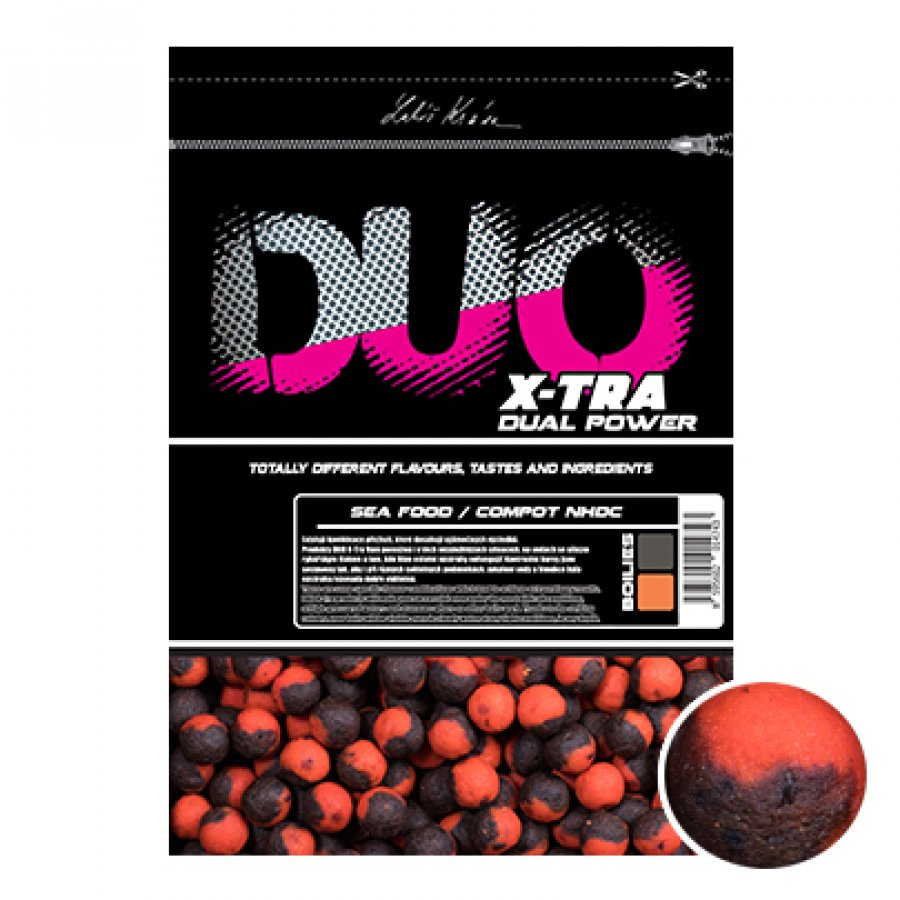 LK Baits DUO X-Tra Boilies Sea Food/Compot NHDC 14mm, 800g