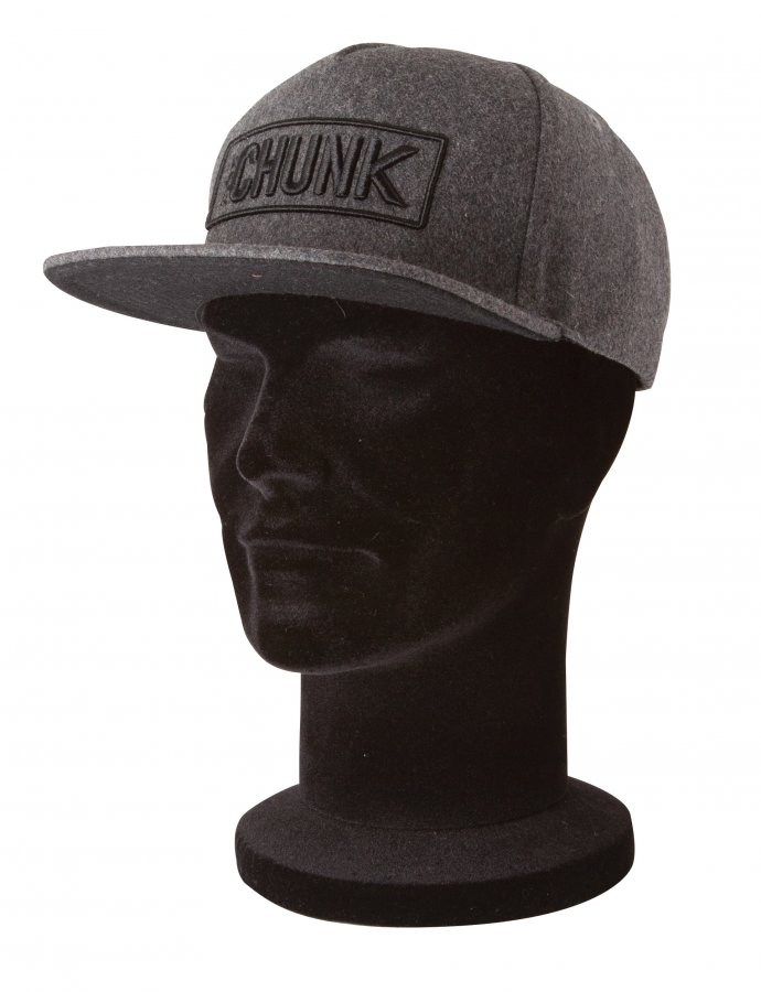 Fox kšiltovka Chunk Melton Wool Snapback Grey