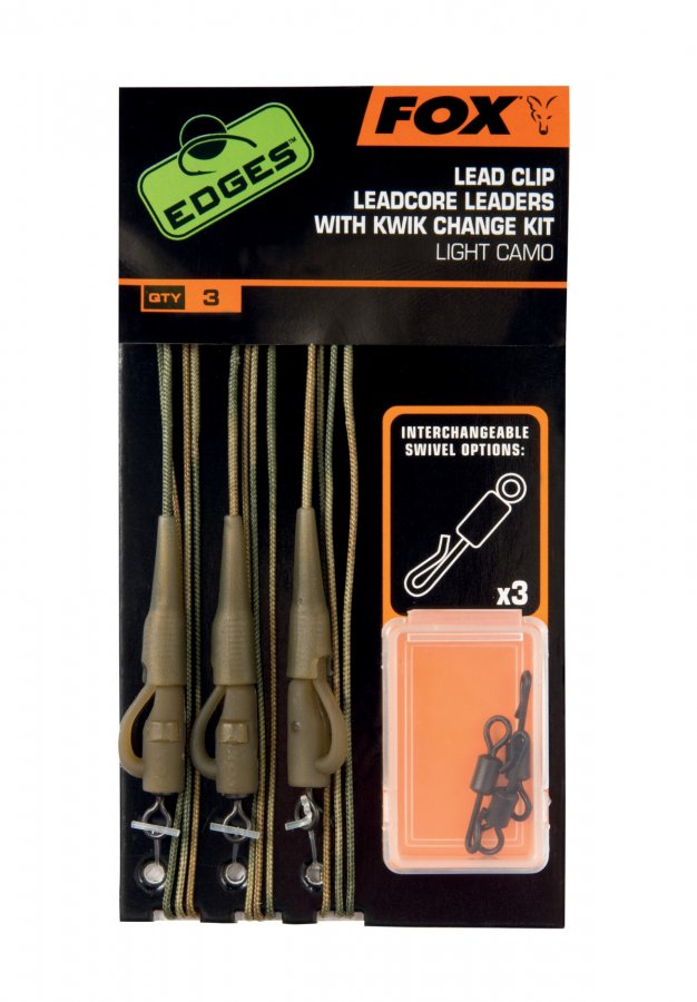 Fox Edges Lead Clip Leadcore 45lb With Kwik Chane Kit