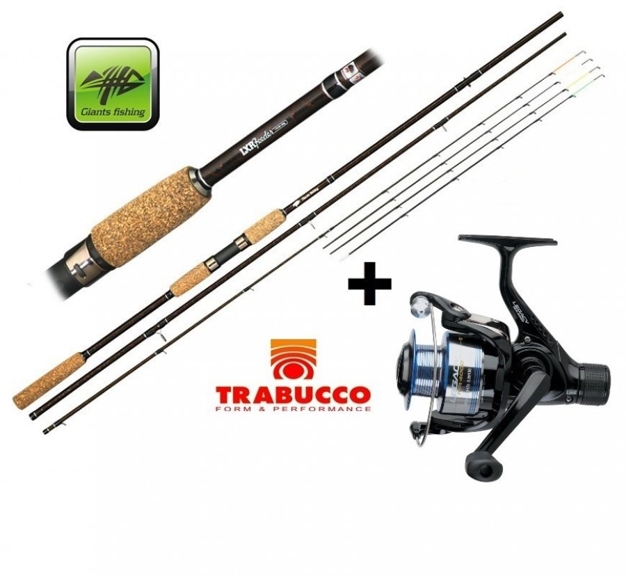Giants Fishing prut LXR Feeder 3,3m 50-100g + naviják zdarma!