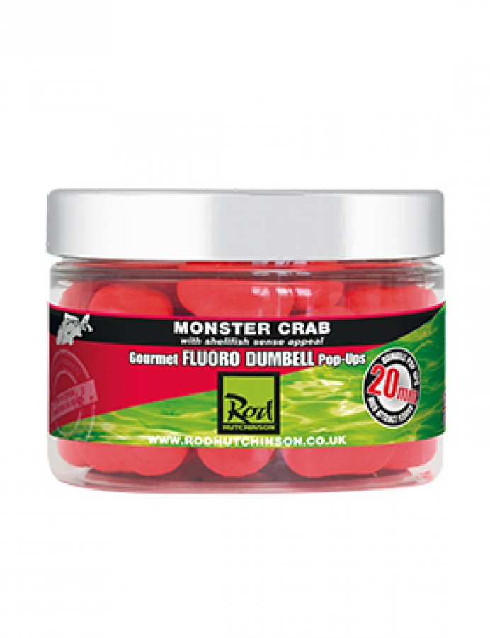 RH Fluoro Dumbell Pop Ups Monster Crab 20mm