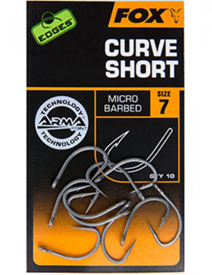 Fox háčky Edges Curve Short Hooks vel. 6, 10ks Micro Barbed