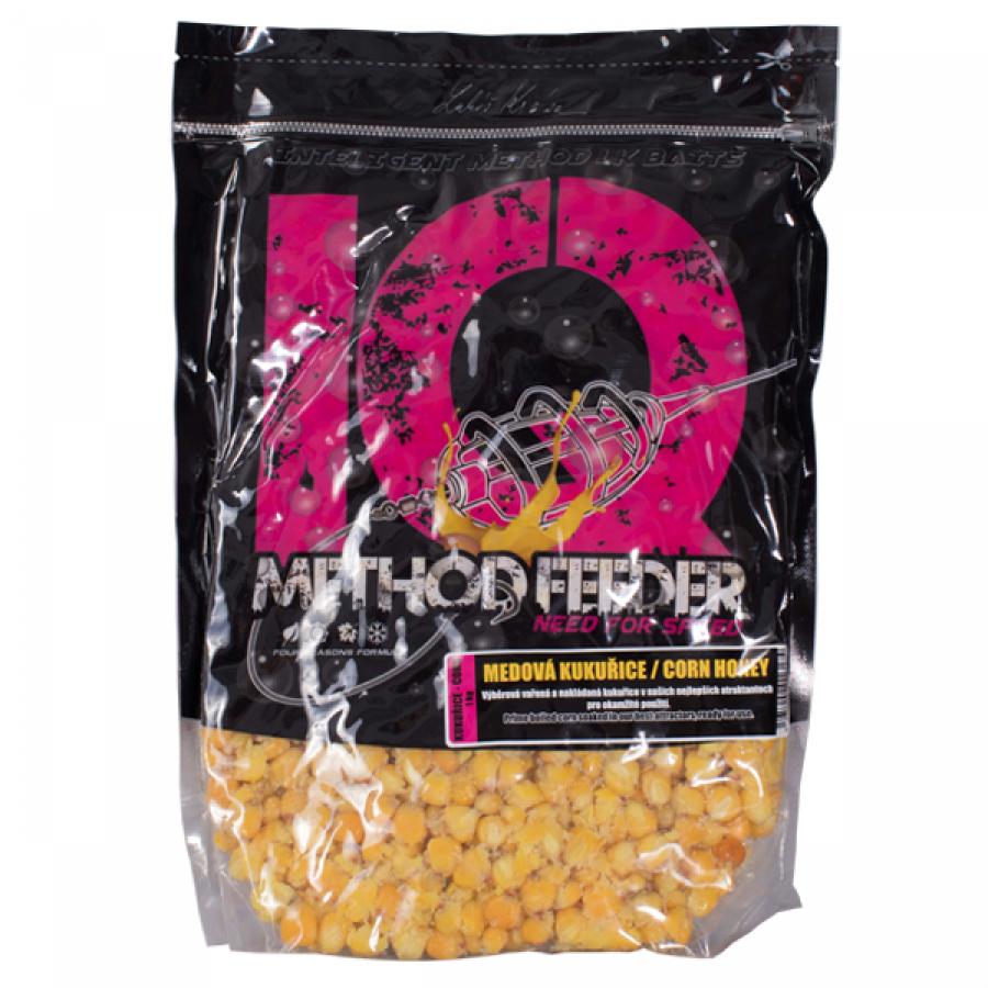 LK Baits IQ Method Feeder Corn 1kg Corn Honey