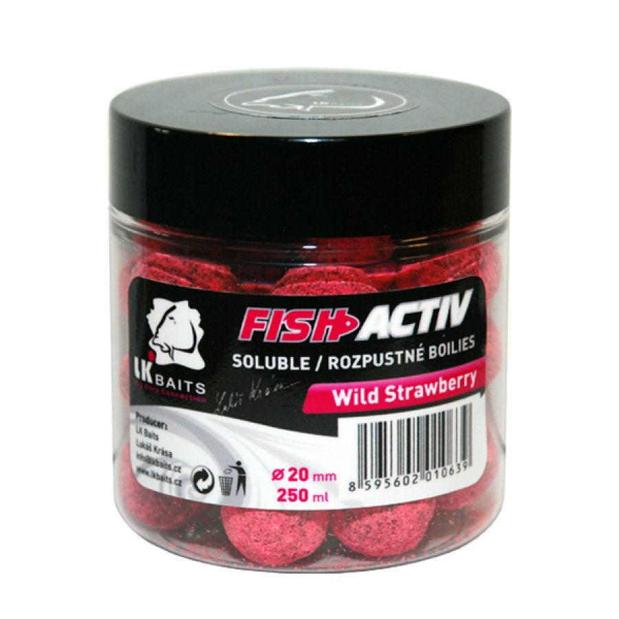 LK Baits Fish Activ Wild Strawberry 250ml, 20mm