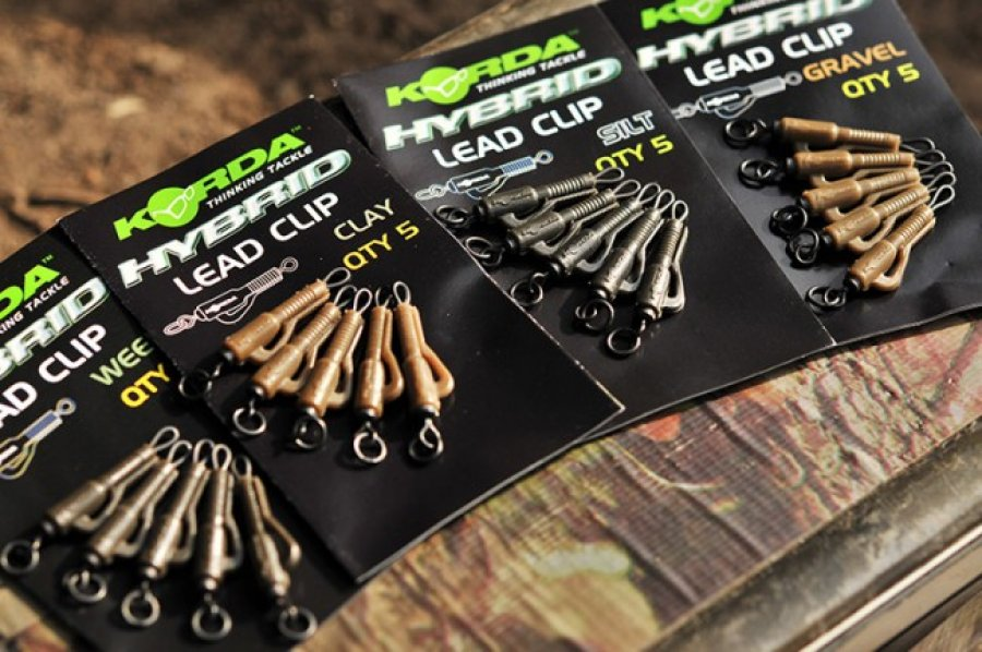 Korda závěsky Hybrid Lead Clips Weedy Green 5ks