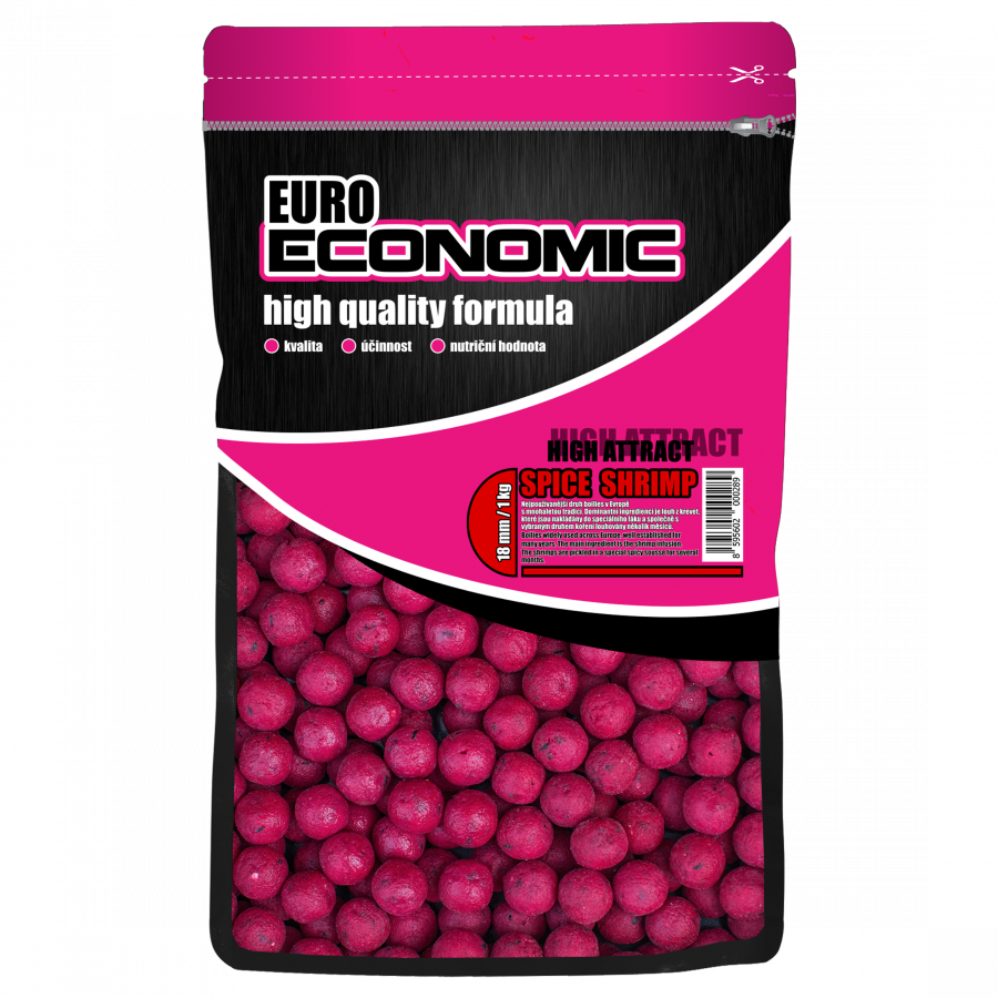 LK Baits Euro Economic Boilies Spice Shrimp 1kg, 30 mm