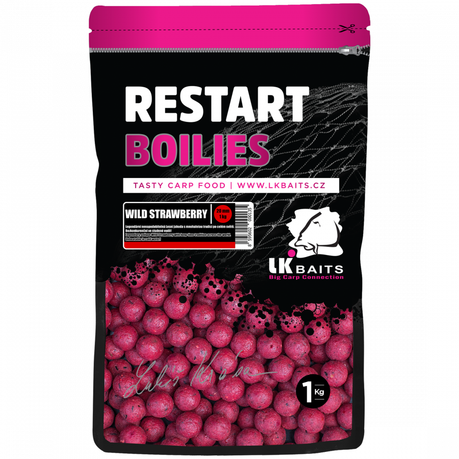 LK Baits Boilies ReStart Wild Strawberry  14 mm, 1kg