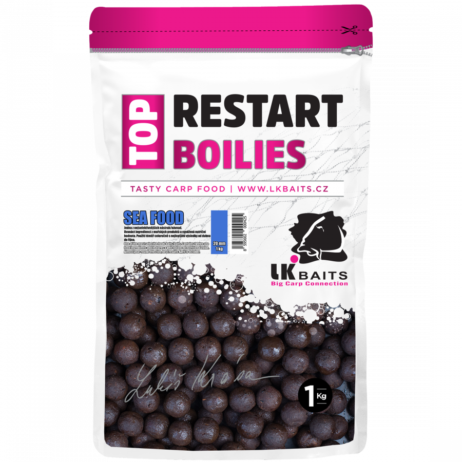 LK Baits Top ReStart Boilies Sea Food 14 mm, 1kg