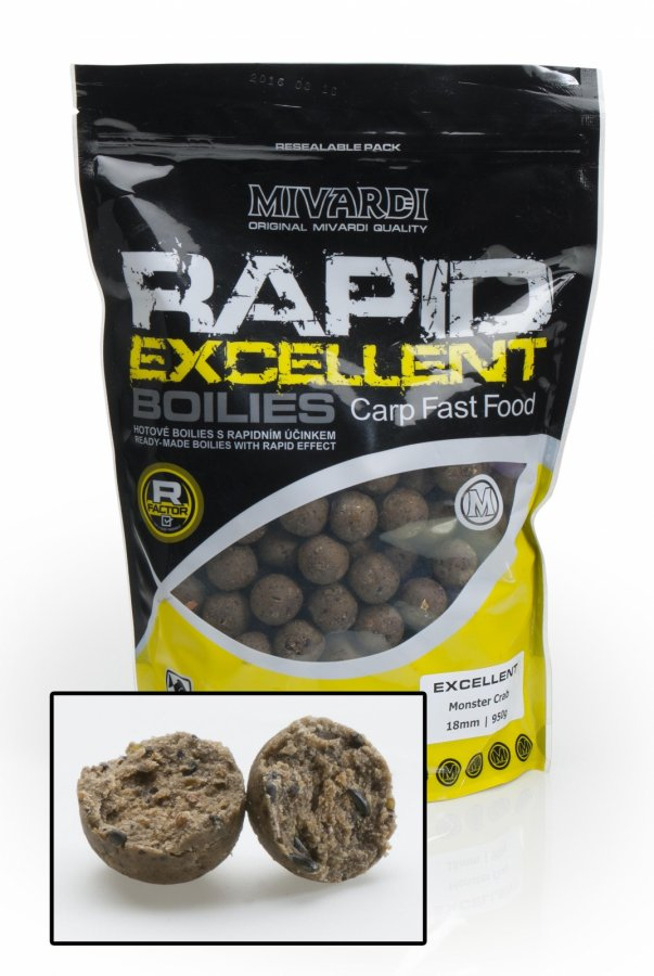 Mivardi boilies Rapid Excellent Monster Crab 950g 24mm