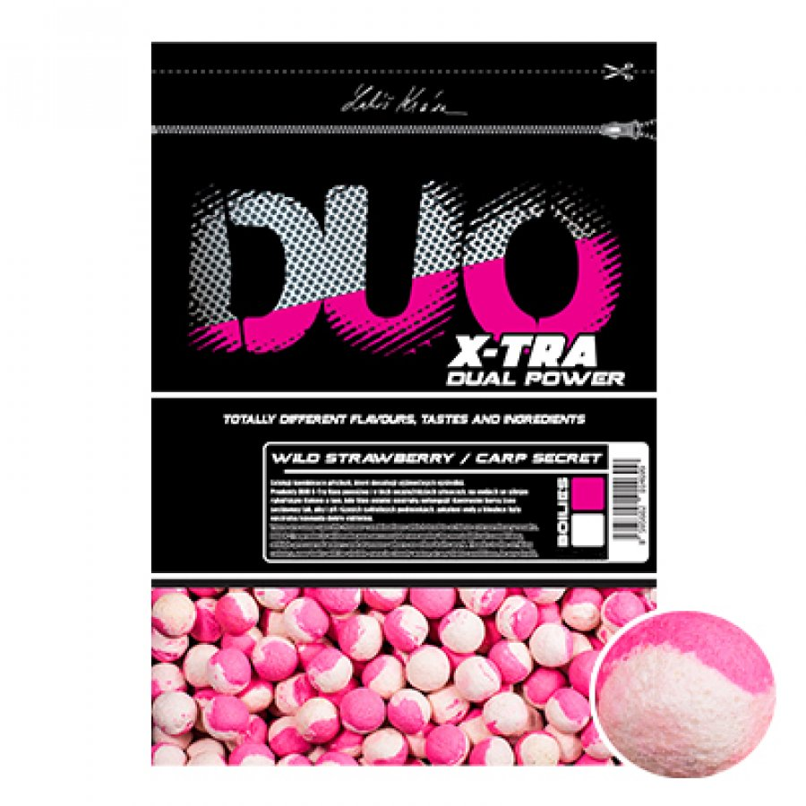 LK Baits DUO X-Tra Boilies Wild Strawberry/Carp Secret