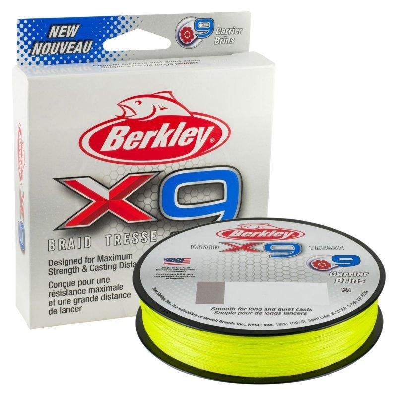 Berkley pletená šňůra X9 Fluro Zelená 150m 0,06mm