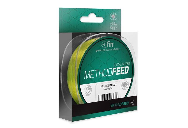 Fin vlasec Method Feed 0,28mm 14,3lbs, 300m/ fluo žlutá