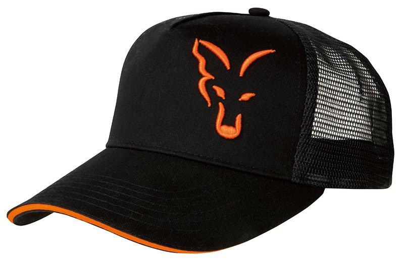 Fox kšiltovka Fox Black/Orange trucker cap