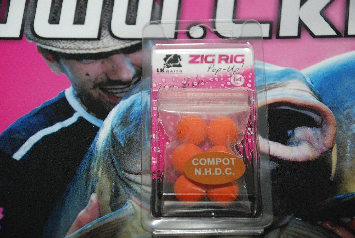 LK Baits ZIG RIG Pop–Up 14 mm – Compot NHDC