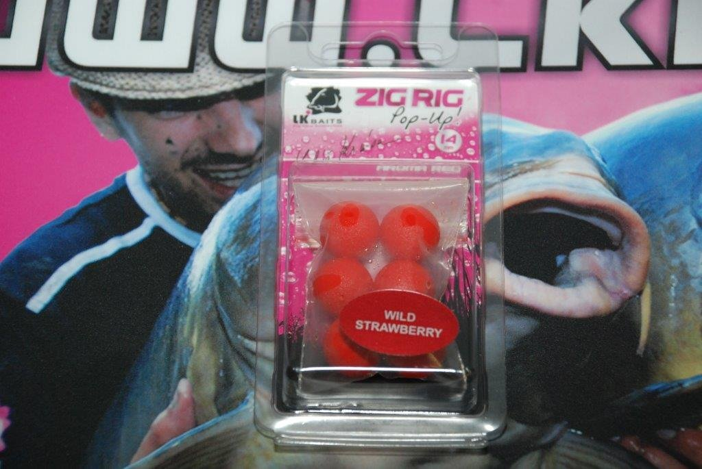 LK Baits ZIG RIG Pop–Up 14 mm – Wild Strawberry