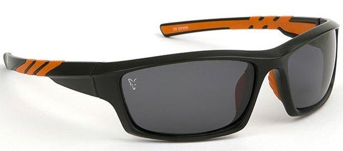 Fox polarizační brýle Sunglasses černo/oranžový rám s šedými skly