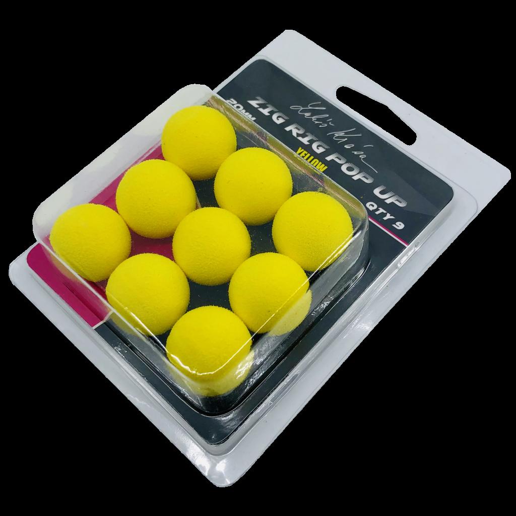 LK Baits ZIG RIG Pop–Up 20 mm – Yellow
