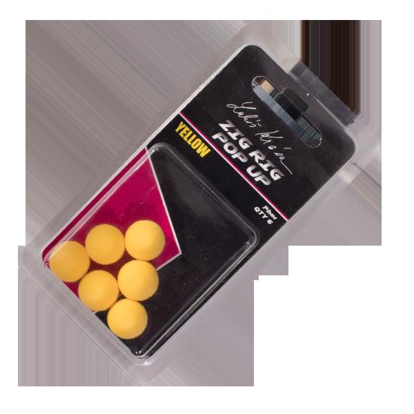 LK Baits ZIG RIG Pop–Up 14 mm – Yellow