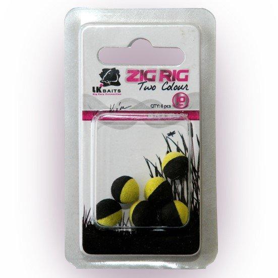 LK Baits ZIG RIG Pop–Up 10 mm – Black/Yellow