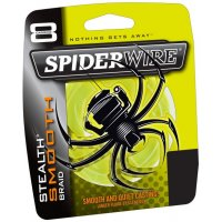 Spiderwire pletená šňůra Stealth Smooth 8 žlutá 1800m 0,12mm 10,7kg 1m