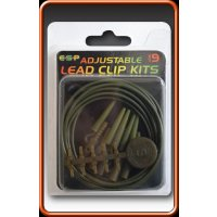 ESP závěsky Adjustable Lead Clip Kits-Weedy Green