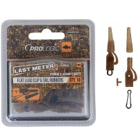 Prologic LM Mimicry Flat Lead Clip & Tail Rubber 10 ks