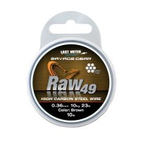 Savage Gear lanko RAW49 0,36mm 11kg 24lb Uncoated Brown 10m