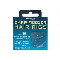 Drennan návazce Carp Feeder Hair Rigs Barbless