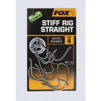 Fox háčky Edges Stiff Rig Straight Hooks Micro Barbed