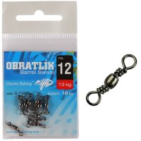 Giants Fishing Obratlík Barrel Swivel no.8 / 20kg / 10ks