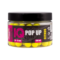 LK Baits IQ Method Feeder Pop Up Fluoro Boilies 10-12mm,150 ml Citrus
