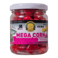 LK Baits obří kukuřice Mega Corn Wild Strawberry 220ml