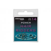 Drennan háčky bez protihrotu Power Hair Riggers Barbless vel. 16