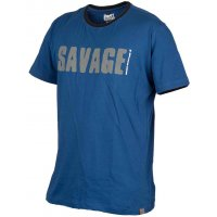 Savage Gear triko Simply Savage Tee modré