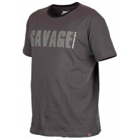 Savage Gear triko Simply Savage Tee - šedé XL